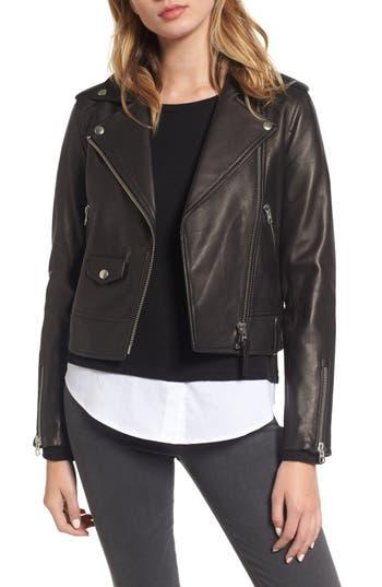 Women's Mackage Baya Leather Moto Jacket