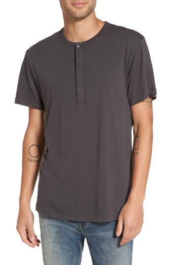 French Connection Henley T-Shirt, Grey
