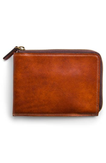 Men's Bosca Dolce Leather Passport Case - Brown