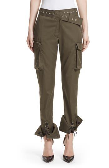 Monse Twill Cargo Pants, Green