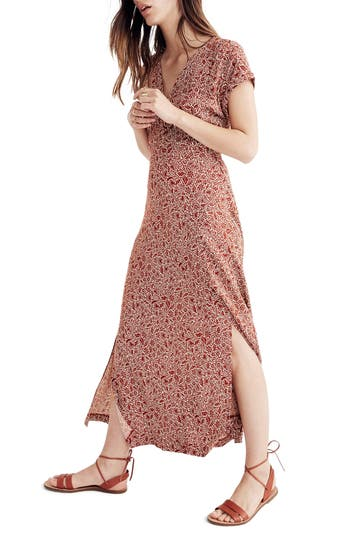Women's Madewell Woodblock Floral Maxi Dress