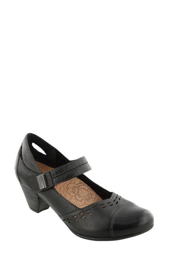 Taos Stunner Laser Cutout Mary Jane Pump, Black