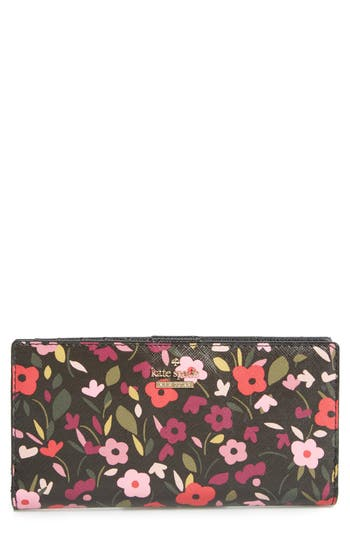 Kate Spade New York Cameron Street - Stacy Boho Floral Wallet - Black