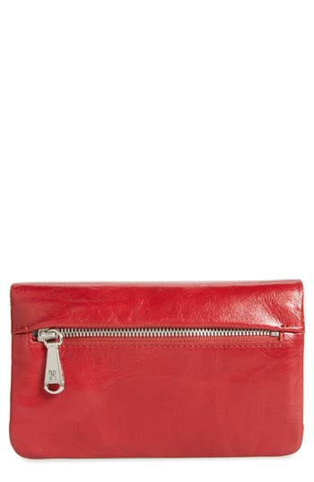 Hobo West Calfskin Leather Wallet - Red