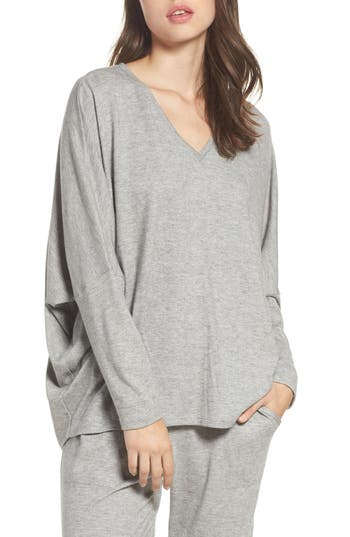 Natori Retreat Sweater Knit Top, Grey