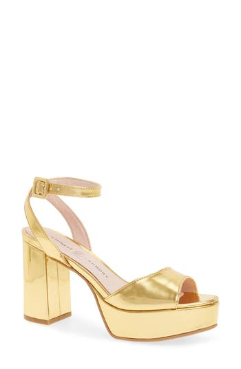 Women's Chinese Laundry Theresa Metallic Platform Sandal, Size 5.5 M - Metallic