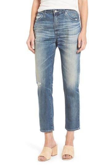 Women's Ag Isabelle High Waist Straight Leg Crop Jeans