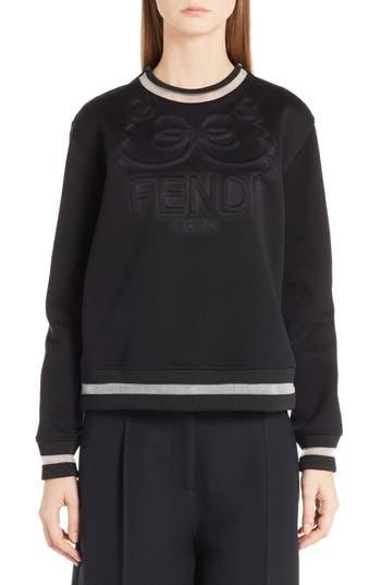 Women's Fendi Logo Jersey Sweatshirt at NORDSTROM.com