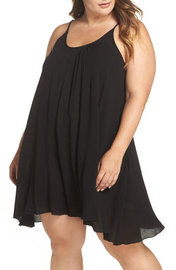 plus size women's elan cover-up dress, size 3x - black