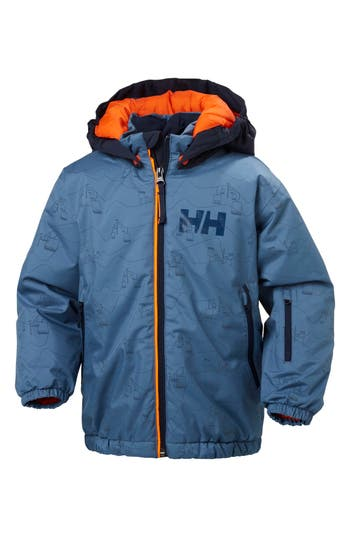 Boys Helly Hansen Snowfall Waterproof Insulated Jacket Size 6  Blue