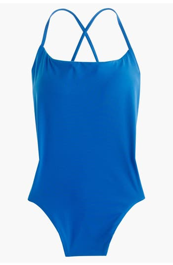J.crew Reversible One-Piece Swimsuit, Blue/green