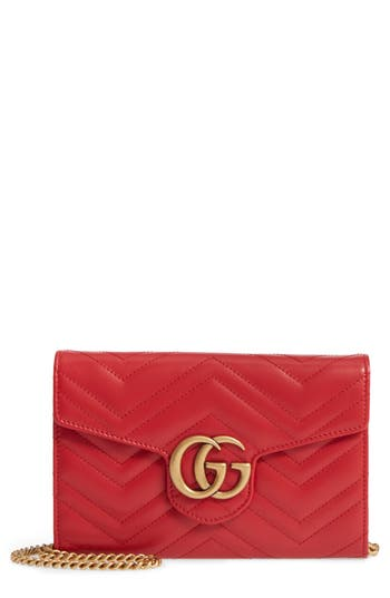 Gucci Gg Marmont 2.0 Matelasse Leather Wallet On A Chain -