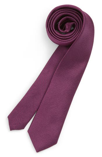 Boy's Nordstrom Solid Silk Tie, Size Big Boy Big Boy - Purple