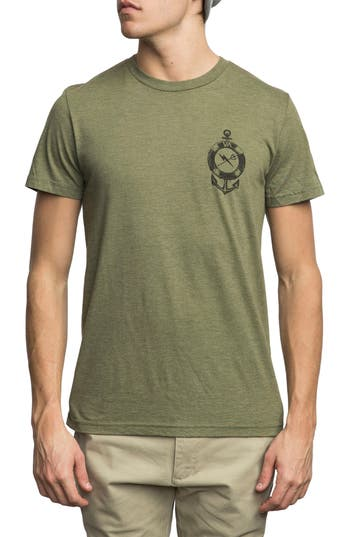Rvca Sea Life Graphic T-Shirt, Green