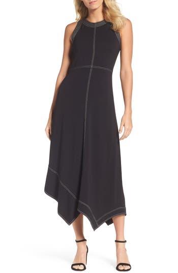 Nic+Zoe Ponte Stitch Midi Dress, Black