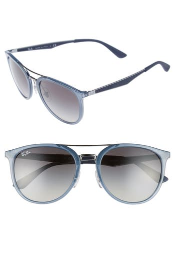 Ray-Ban 55Mm Gradient Lens Sunglasses - Crystal