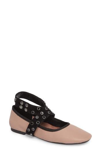 M4D3 Carla Wraparound Ankle Strap Flat, Pink