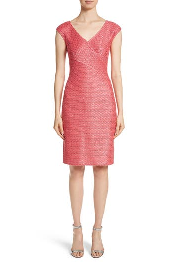 St. John Collection Hansh Knit Dress, Coral