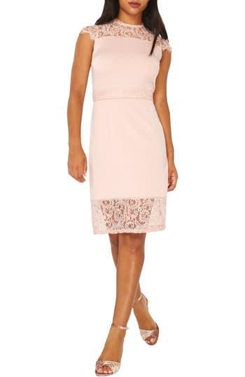 Dorothy Perkins Lace Sheath Dress, US / 10 UK - Pink