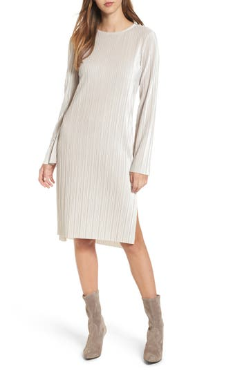 Leith Pleated Midi Dress, Grey