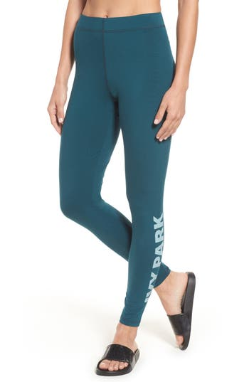 Ivy Park Logo Ankle Leggings, Blue/green
