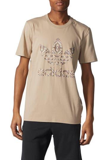 Adidas Originals Chicago Stacked 3D Logo T-Shirt, Beige