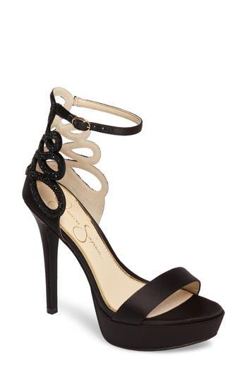 Jessica Simpson Bayvinn Platform Sandal- Black