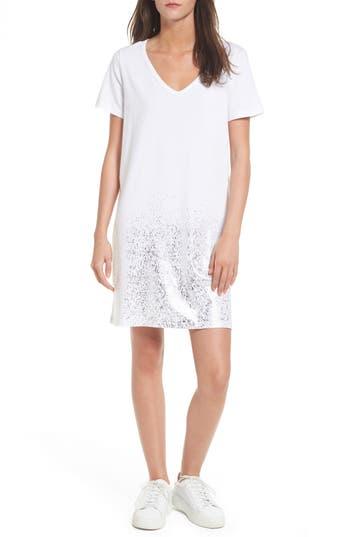 Bp. Foil Detail T-Shirt Dress, White