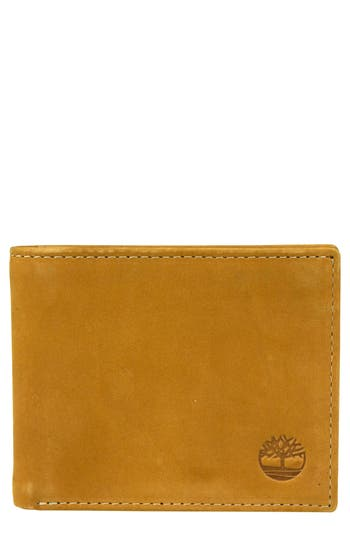 Men's Timberland Icon Leather Wallet - Beige