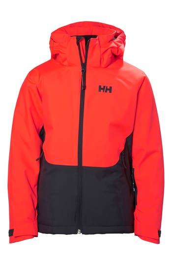 Girl's Helly Hansen Jr. Stella Waterproof Hooded Jacket