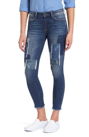 Mavi Jeans Adriana Patched Stretch Skinny Jeans, Blue