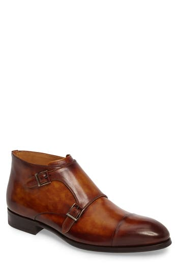 Magnanni Lavar Double Monk Strap Boot, Brown