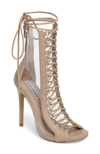 Steve Madden Flash Lace-Up Bootie, Brown