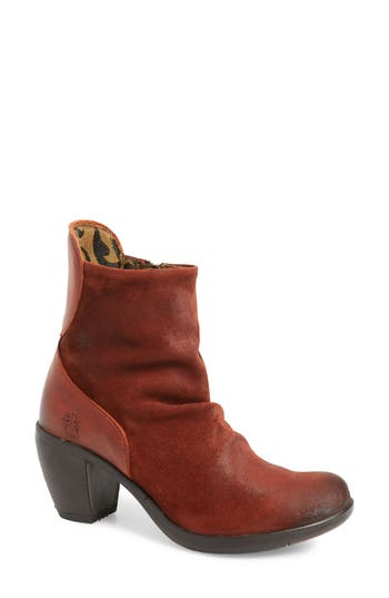 Fly London Hota Slouch Bootie - Red
