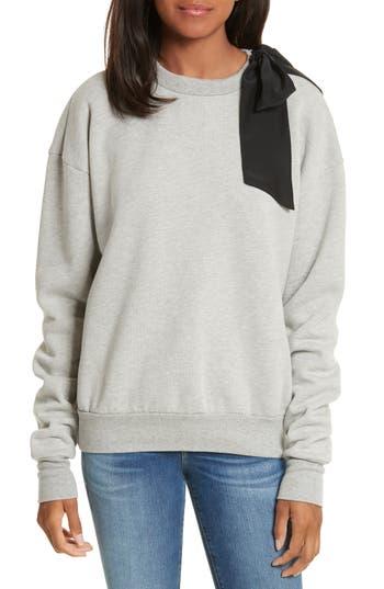 Frame Bow Sweatshirt, Grey