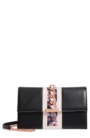Ted Baker London Ulayah Print Ribbon Crossbody Bag - Black