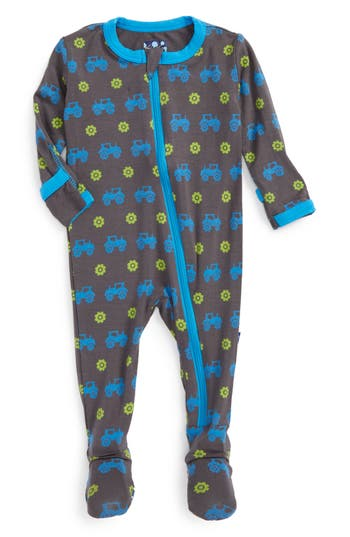 Infant Boys Kickee Pants Fitted OnePiece Footie Pajamas