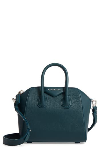 Givenchy 'Mini Antigona' Sugar Leather Satchel - Blue