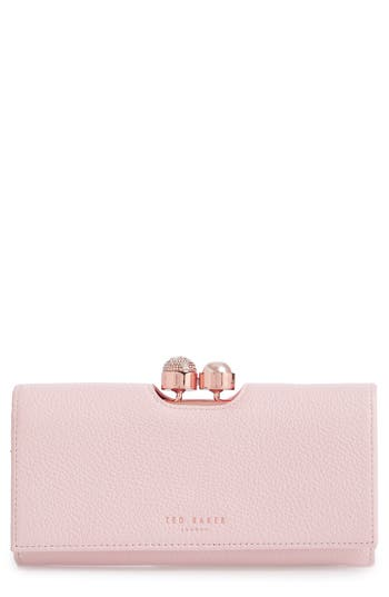 Ted Baker London Marta Bobble Matinee Leather Wallet - Pink