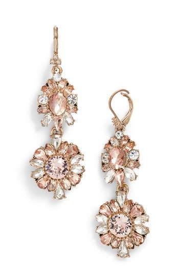 Women's Marchesa Double Drop Crystal Earrings