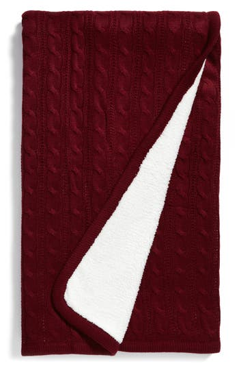 Levtex Cable Knit Throw Blanket, Size One Size - Red