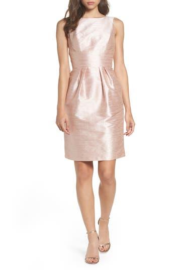Alfred Sung Boatneck Sheath Dress, Pink