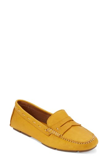 Women's G.h. Bass & Co. Patricia Driving Moccasin, Size 6 M - Yellow