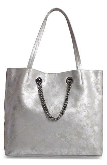 Chelsea28 Dakota Chain Faux Leather Tote - Metallic