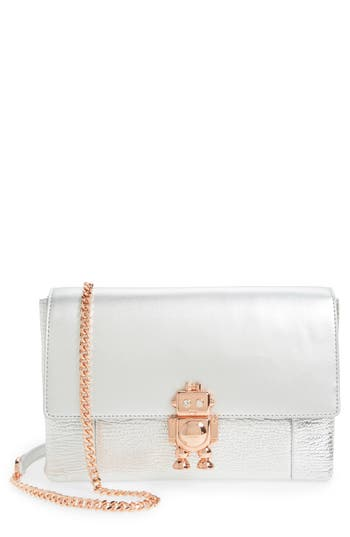 Ted Baker London Jemms Leather Crossbody Bag - Metallic