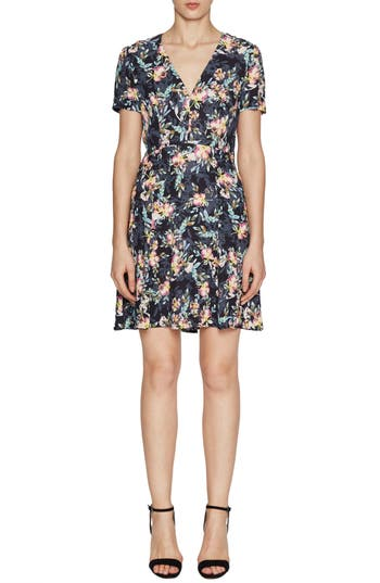 French Connection Delphine Crepe Dress, Black