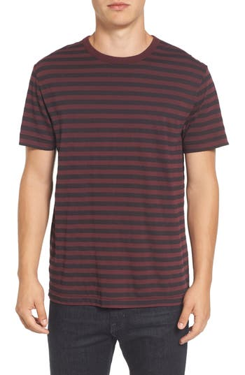 French Connection Slim Stripe T-Shirt, Red