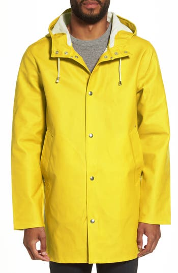 Men's Stutterheim Stockholm Waterproof Hooded Raincoat, Size XX-Large - Yellow