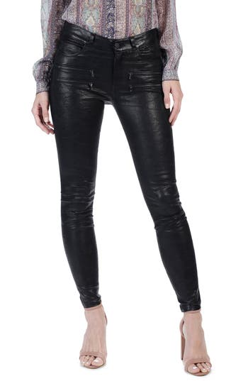 Women's Paige Edgemont Ankle Skinny Leather Pants