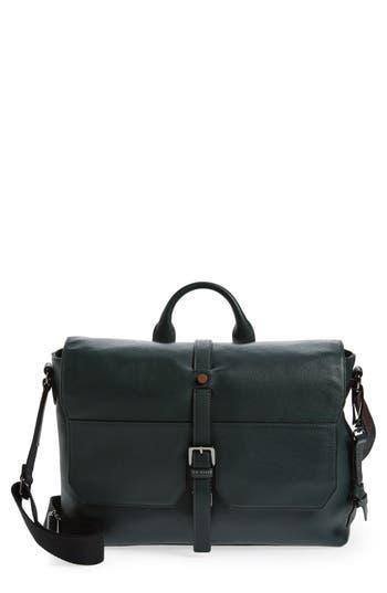 Ted Baker London Cheeta Leather Messenger Bag - Green